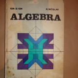 Algebra- Ion D.Ion, R.Nicolae - Carte Matematica