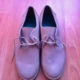 Vand pantofi H&M, model office, marime 43, noi - Pantof barbat H&m, Culoare: Gri, Textil, Gri
