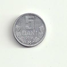MOLDOVA 5 BANI 2006 [2] XF, livrare in cartonas, Europa, Aluminiu