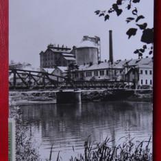 Carte Postala - RPR - Alb Negru - Ocna Mures - Uzina de produse sodice - Carte Postala Banat dupa 1918