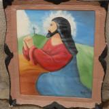 Tablou vechi religios, reducere - Pictor roman