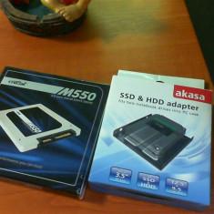 Ssd 512 gb crucial m550 + adaptor hdd, SATA 3