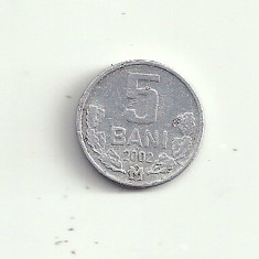 MOLDOVA 5 BANI 2002 [1] livrare in cartonas, Europa, Aluminiu