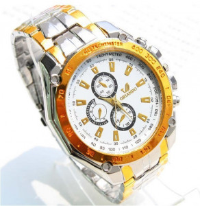 Ceas Quartz Casual Elegant ORLANDO Gold-Silver Chronomat | CALITATE GARANTATA | CADOUL IDEAL PENTRU CEI DRAGI | CEL MAI MIC PRET GARANTAT