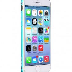 Husa BUMPER ALUMINIU aviatie, premium - HOCO, iPhone 6, ultra usor, BLUE - Husa Telefon Hoco, Albastru, Metal / Aluminiu