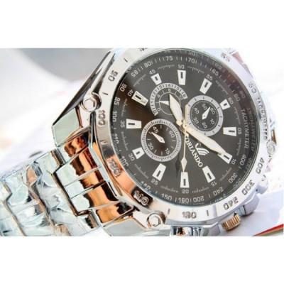 Ceas Quartz Casual Elegant ORLANDO Silver Chronomat   CALITATE GARANTATA   foto
