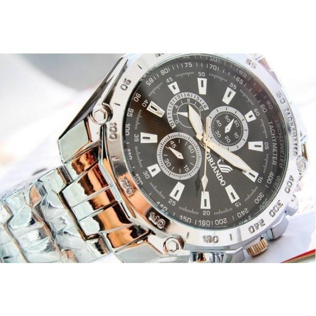 Ceas Quartz Casual Elegant ORLANDO Silver Chronomat   CALITATE GARANTATA  
