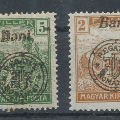 RFL 1919 ROMANIA Emisiunea Oradea seceratori 2 si 5 Bani erori sursarj ancrasat - Timbre Romania, Nestampilat