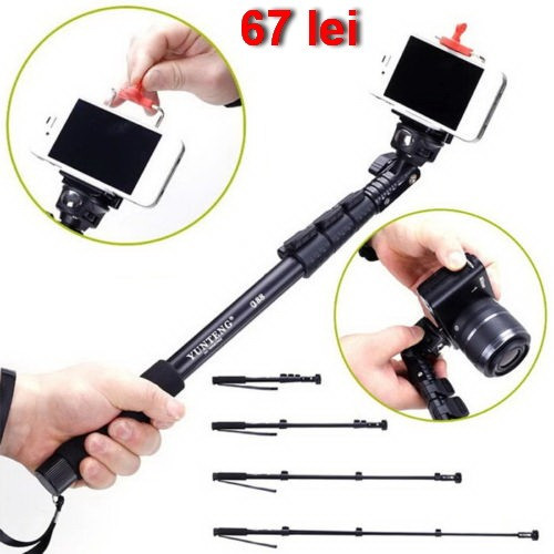 Monopied Selfie stick compatibil GoPro Hero si SJCAM SJ4000 foto mare