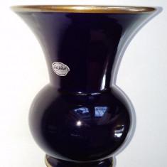 Vaza portelan cobalt, cu marcaj, provenienta Germania