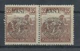 RFL 1919 ROMANIA Cluj seceratori 35 BANI eroare BAN_I pereche cu marca normala