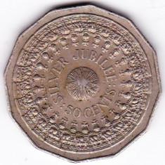 Australia 50 CENTS 1977 12 laturi moneda mare 31, 5 mm Jubiliara SILVER JUBILEEa.UNC/UNC (2)