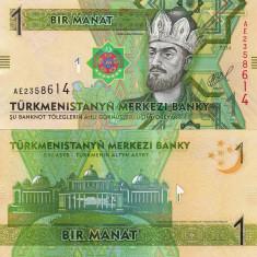 TURKMENISTAN 1 manat 2014 UNC!!!