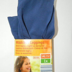 Dress, ciorapi, strampi, colanti, leggins pentru fetite, 100 DEN, termo, albastri, marimea 10-12 ani, 146-152 cm