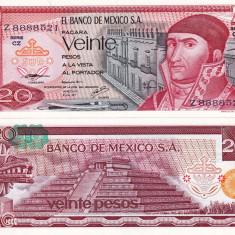MEXIC 20 pesos 1977 UNC!!! - bancnota america