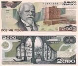 MEXIC 2.000 pesos 1989 P-86 UNC!!!