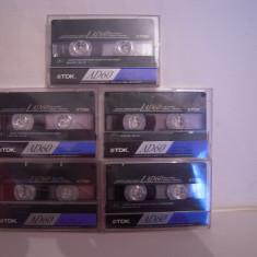 Vand 5 casete audio TDK-AD-60 min,originale,raritate!