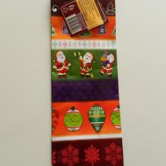 Plasa de cadouri, model de iarna, punga cadouri, pungi cadouri, pentru sticle, sticla bautura, Mos Craciun - Ornamente Craciun