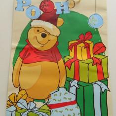Plasa mare de cadouri, model de Craciun, Winnie the Pouh, punga cadouri, pungi cadouri, incapatoare - Ornamente Craciun