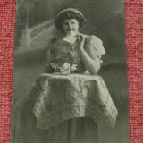 Carte postala - Veche imagine cu indragostita inceput de secol XX !!! - circulata