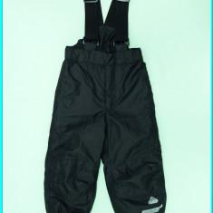 IMPECABILI _ Pantaloni salopeta iarna, impermeabili NORHEIM _ copii | 18-24 luni, Marime: Alta, Culoare: Negru, Unisex