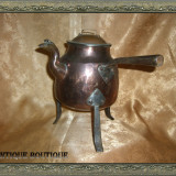 Ceainic viking cupru cu fier forjat, peste 200 ani, Vase