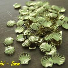 Set 10 decoratiuni metalice scoici aurii 5mm pentru unghii nail art ***nou - Model unghii