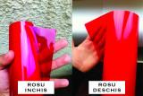 Folie stopuri / faruri / proiectoare - rosu deschis - ORACAL - 50 cm x 150 cm