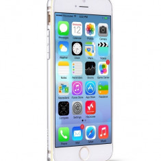 Husa/toc BUMPER ALUMINIU aviatie premium HOCO iPhone 6 PLUS ultra usor, ARGINTIU - Husa Telefon Hoco, Metal / Aluminiu