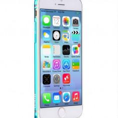 Husa/toc BUMPER ALUMINIU aviatie premium HOCO iPhone 6 PLUS ultra usor, ALBASTRU - Husa Telefon Hoco, Metal / Aluminiu