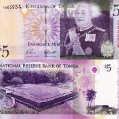 TONGA 5 pa'anga 2009 UNC!!!
