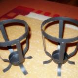 Set 3 sfesnice din fier forjat pentru masa