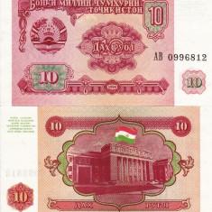 TADJIKISTAN 10 ruble 1994 UNC!!! - bancnota asia