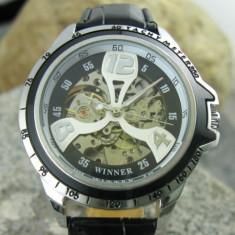 Ceas WINNER Automatic / Mecanic Cu Un Design Atractiv -  Unisex - Cadran Negru