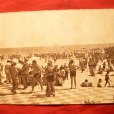 Ilustrata interbelica - Mamaia - Plaja - Carte Postala Dobrogea dupa 1918