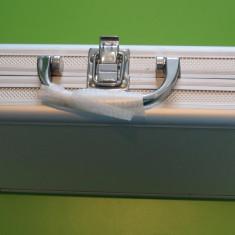 Valiza de aluminiu cu burghie titan si BIT suflate titan set burghie fier