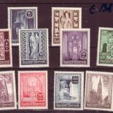 SERIE TIMBRE AUSTRIA 10 VALORI 1945