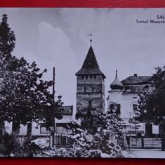 Carte Postala - RPR - Alb Negru - Salonta - Turnul Muzeului memorial Arany Janos