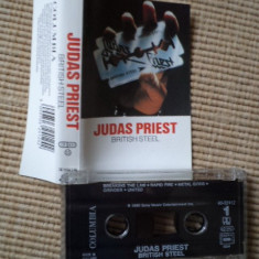 Judas priest british steel album caseta audio muzica heavy metal hard rock - Muzica Rock, Casete audio