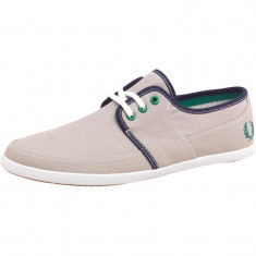 Tenesi Fred Perry Mens Tonic Canvas Pumps Chrome marimea 44 - Tenisi barbati, Culoare: Gri, Textil