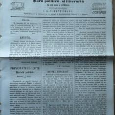 Reforma, ziar politicu, juditiaru si litteraru, an 2, nr. 32, 1860