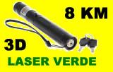 Laser Verde 3D(green Laser)  Acumulator Raza mare 303