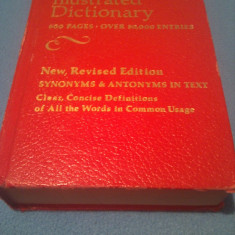 DICTIONAR ILUSTRAT LIMBA ENGLEZA WEBSTERS NEW ILLUSTRATED DICTIONARY, METRO PUBLISHING CORPORATION KENSINGTON MARYLAND 1978, 800 PAG.CARTONATA