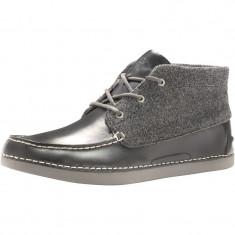 Ghetute Ugg Mens Kaldwell Boots Charcoal  marimea 43, Negru, Piele naturala