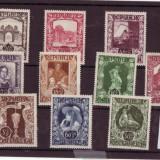 SERIE TIMBRE AUSTRIA 10 VALORI 1947 PERSONALITATI.CLADIRI, Nestampilat