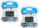 BLUMAX | 2 Acumulatori compatibili Nikon EN EL20 ENEL20 | 1 J1 | Infochip