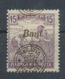 RFL 1919 ROMANIA Emisiunea Oradea seceratori 15 Bani eroare cu sursarj deplasat