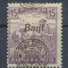 RFL 1919 ROMANIA Emisiunea Oradea seceratori 15 Bani eroare cu sursarj deplasat - Timbre Romania