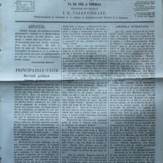 Reforma, ziar politicu, juditiaru si litteraru, an 2, nr. 33, 1860