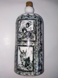 Recipient din portelan Bavaria 0,35l, ornamentat cu scenete vanatoresti, Decorative